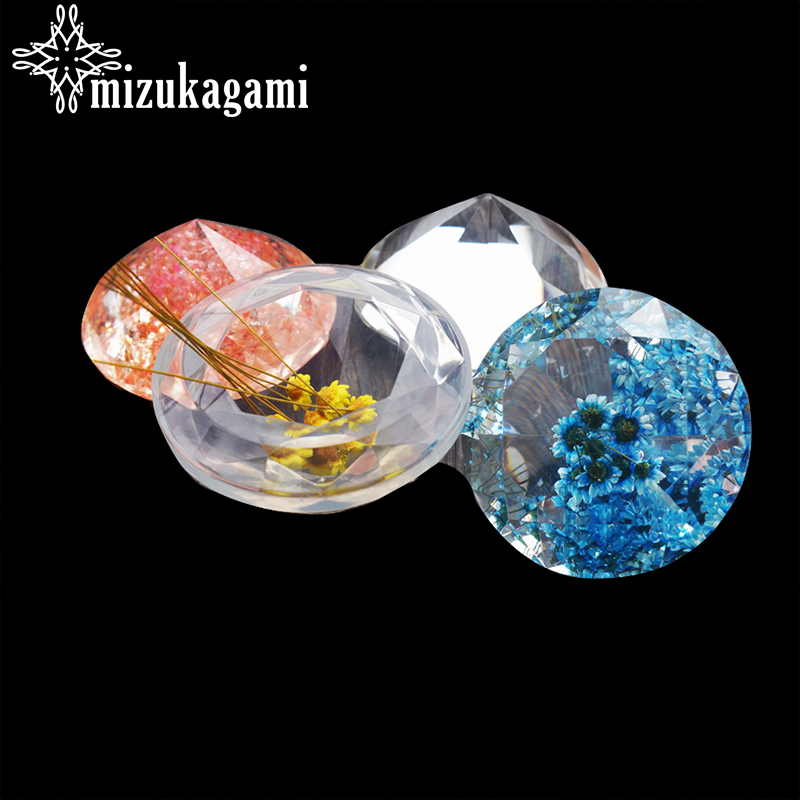 1UV Resin Jewelry Liquid Silicone Mold Diamond Type Epoxy Resin Molds For DIY Jewelry Making Finding Molds Accessories