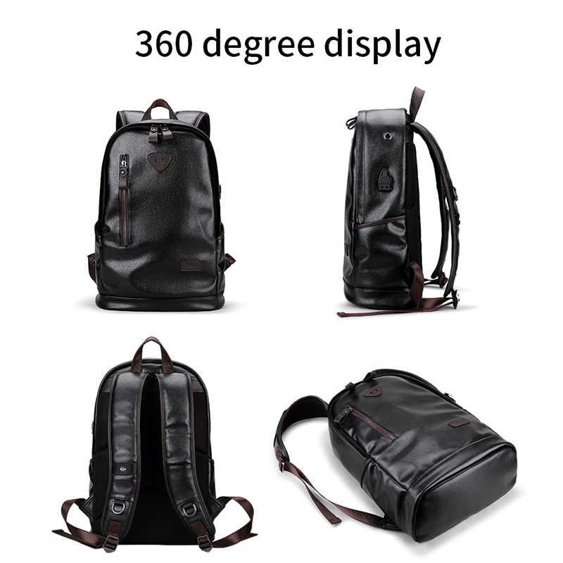 LIELANG bookbags mochila de cuero para hombre, bolsos funcionales para hombre, mochila impermeable para hombre, mochila para hombre de gran capacidad, mochilas escolares