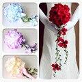 Рамос де novia букет de fleurs mariage великолепная бисера кристалл свадебные букеты Искусственные Розы Свадебные цветы свадебные букеты