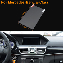 Car Styling 7 Inch GPS Navigation Screen Steel Protective Film For Mercedes-Benz E-Class Control of LCD Screen Car Sticker