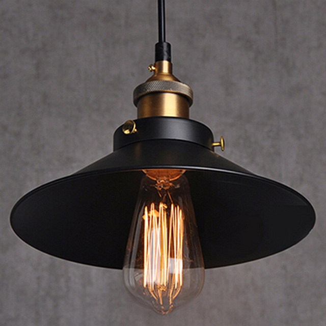 Loft Iron Vintage Pendants Lights Countryside Edison Bulb Retro Pendant Lamp Base E27 Light Fixtures