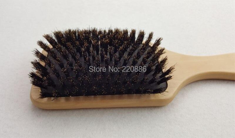 Купить с кэшбэком Wooden Hair Brush Boar Bristle Mix Nylon Hair Brush Paddle Hair Brush Hair Extension Brush GIC-HB571 (1 piece) Free Shipping