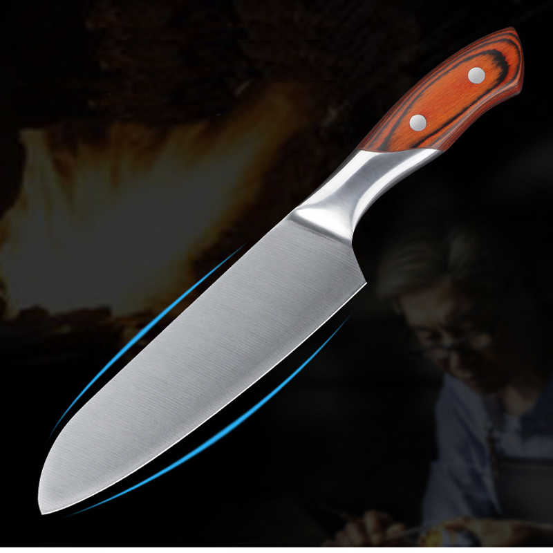 New Japanese Style Stainless Steel Kitchen Knife Paring Utility Santoku Bread Chef Slicing knife High Carbon Steel Cooking Knive