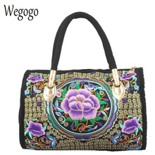 hot deal buy vintage women handbag canvas flower embroidered women beach totes boho embroidery mandala shoulder messenger bag for woman