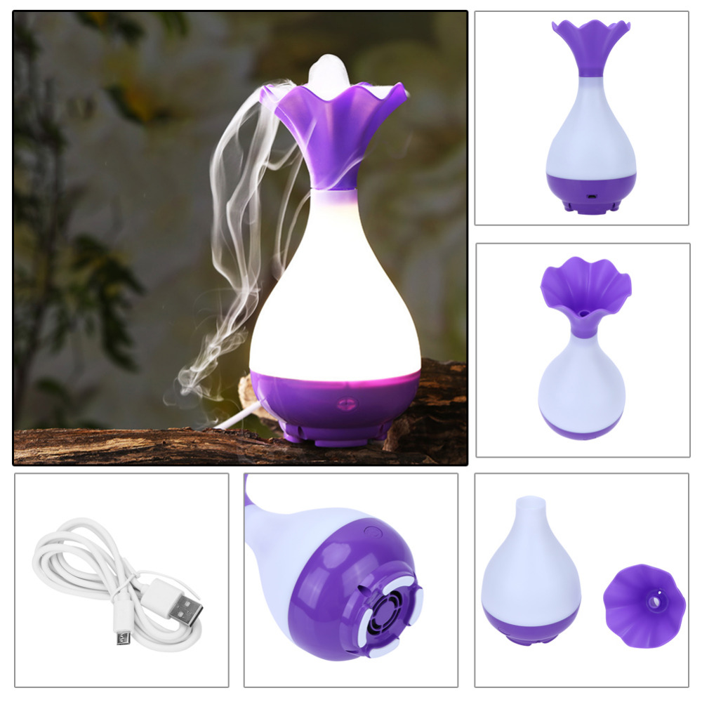 USB Air Humidifier Ultrasonic Aroma Essential Oil Diffuser Aromatherapy Mini Night Light Mist Maker Mist Purifier atomizer