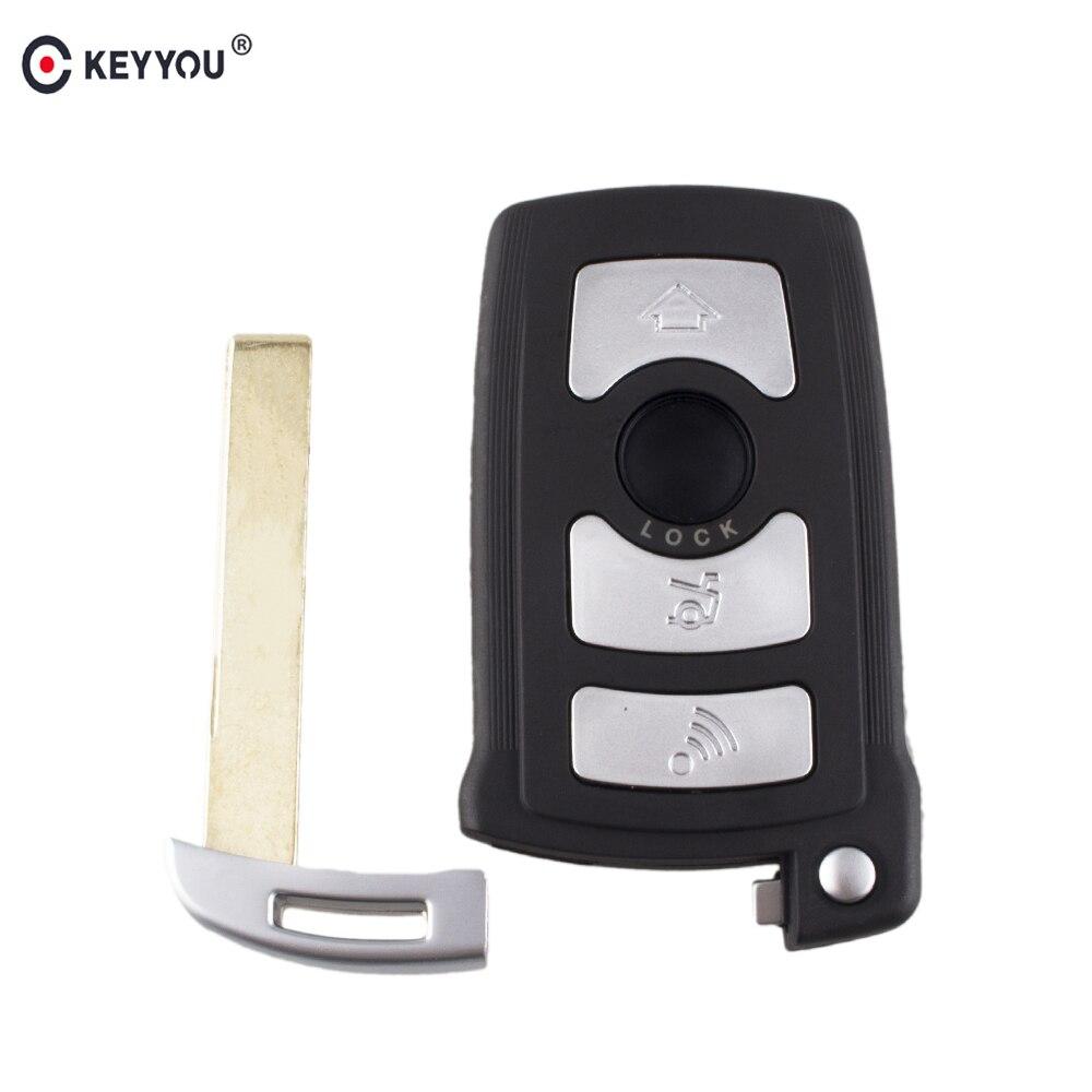 Clé de voiture porte-clés 4 boutons pour BMW série 7 E65 E66 E67 E68 745i 745Li 750i 750Li 760i avec petite clé