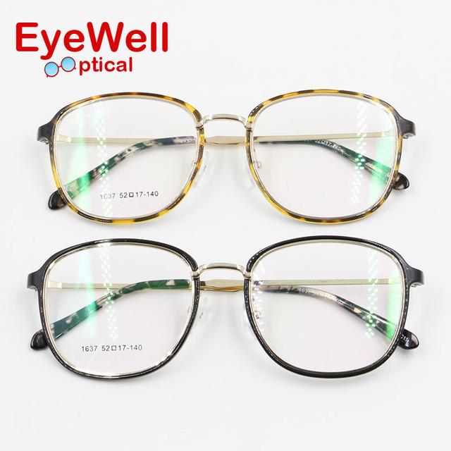 2017 Nova moda feminina grande armação dos óculos luz peso confortável vestindo bonito óculos de armação para a senhora mais popular