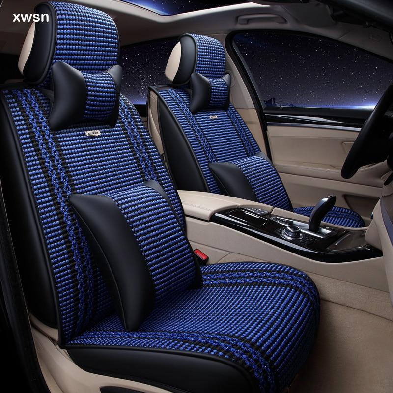 XWSN Ice silk Universal car seat cover for skoda octavia a5 yeti kodiaq superb fabia 3 karoq car seat protector