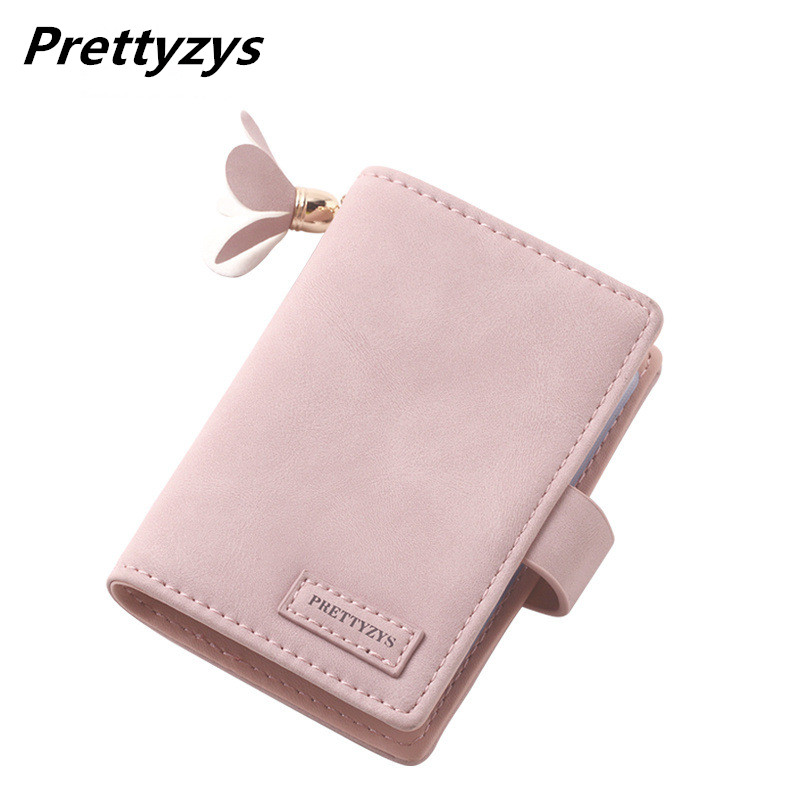 Prettyzys 20 Card Slots Matte Pu Leather Card Holders Fashion Candy Color Credit Card Wallet Brand Women Business Card Holder bovis 5102 02 casual man s pu credit name card wallet slots coffee