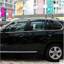 Nierdzewne okno pełne kompletne wokół pokrywy wykończenia 10 sztuk dla BMW X5 E70 2007-2013