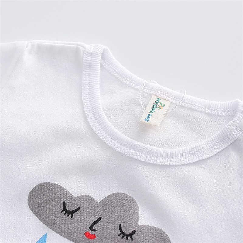 Милый ребенок Корректирующие боди для женщин мальчик девочка застенчивый облако комбинезон короткий рукав; цельная одежда Белый Черный летняя одежда для малышей