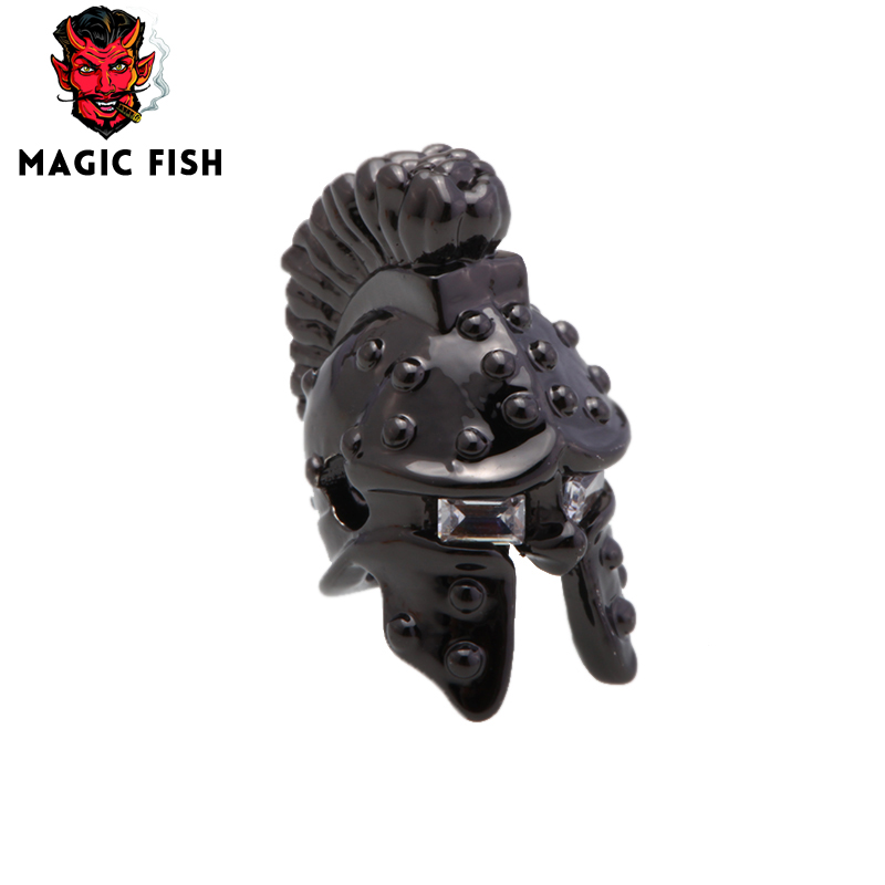 Magic Fish Soldier Armor Helmet Hole Beads For Making Men Bracelets&bangles Necklace 4 Colors Copper Beads For Jewelry Making Beads Beads & Jewelry Making