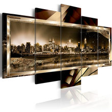 5 pieces/set Abstract city night view Picture Print Painting On Canvas Wall Art Home Decor Living Room Canvas Art PJMT-B (214)(China)
