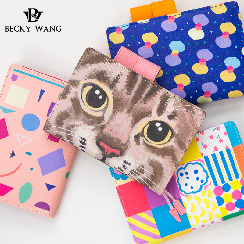 BW Hot Sale Lovely Hand Accounting A5 A6 Hardcover Faux Leather Fashion Printing Colorful Diary Book Travel Notebook Notepad managment accounting in a society undergoing structural change loc362