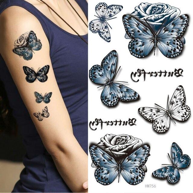 Rey Caballo Fresco Blanco Y Negro Mariposas Azul Oscuro Mariposas