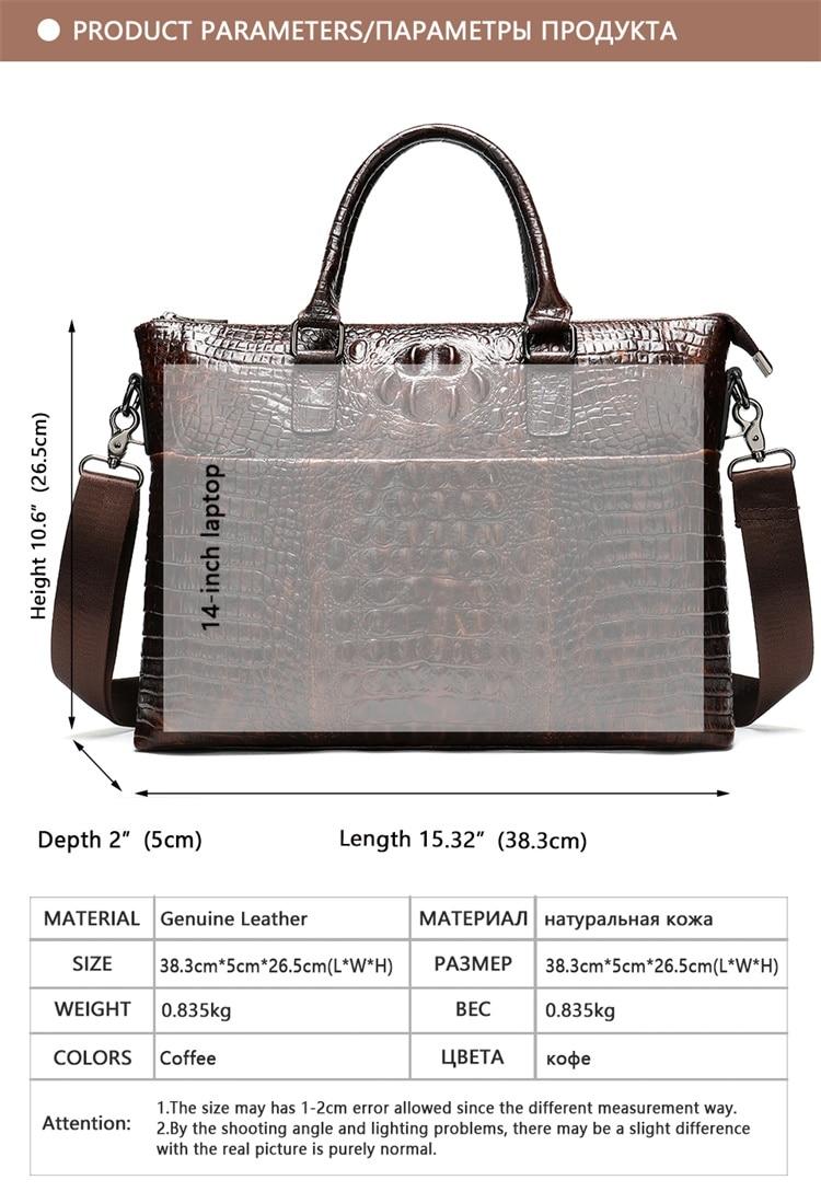 HTB1KaQlbi 1gK0jSZFqq6ApaXXaI MVA Male briefcase/Bag men's genuine leather bag for men leather laptop bags office bags for men Crocodile Pattern handbag 5555