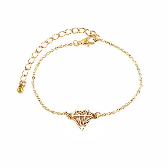 DIEZI 4PCS/Set Retro Leaf  Knotted Charm Chain Bracelets for Women Fashion Gift Gold Metal Chain Bracelets Bangles Jewelry