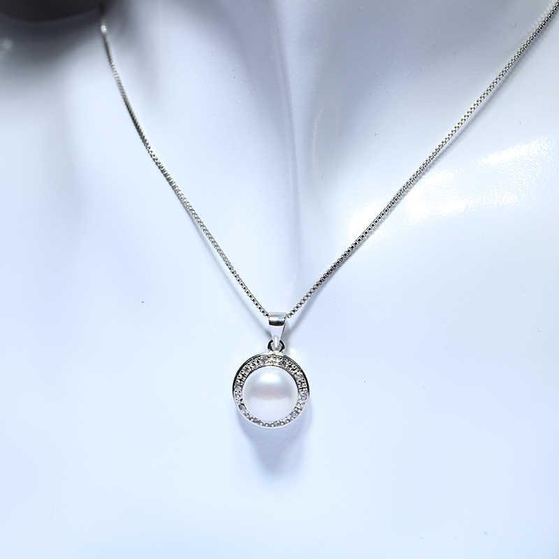 YIKALAISI 925 sterling silver biżuteria naturalna perła słodkowodna wisiorek zestawy kolczyków cyrkon biżuteria dla kobiet
