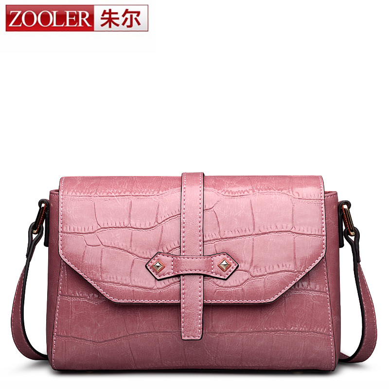 ФОТО hot ZOOLER BRAND genuine leather bag women shoulder messenger bags for lady 2016 Classic bolsa cross body Colors #2358