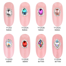 hot deal buy 10pcs crystal nail stone strass nail art 3d charms crystals diamond jewelry rhinestones for nails decoration new arrive y1252