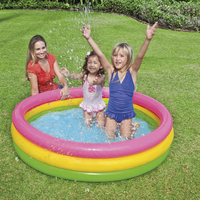 Three color three ring family play pool swimming pool ocean ball pool easy to carry indoor and outdoor inflatable swimming pool