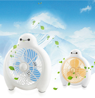 Baymax Style Summer Cooling Fan 2 Gear Large Air Volume Ventilator Mini Quiet Electric Fan For Home Office Students