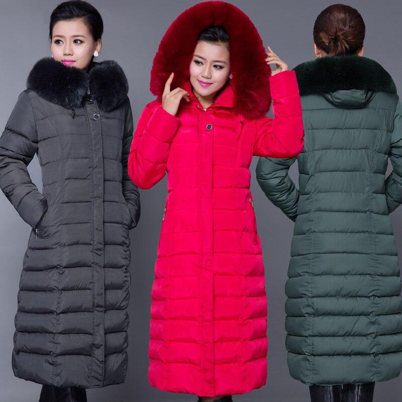 288282df8 US $55.51 9% OFF|Winter Jacket Women 2018 Winter Coat Women Plus Size 5XL  Long Parka Luxury Fur Cotton Padded Women Wadded Jackets -in Parkas from ...