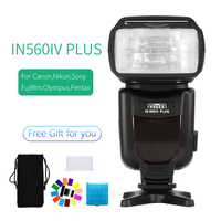 INSEESI IN560IV Plus Wireless Flash Speedlite Integrated Transceiver for Canon Nikon Panasonic Pentax Camera DSLR Camera Flash