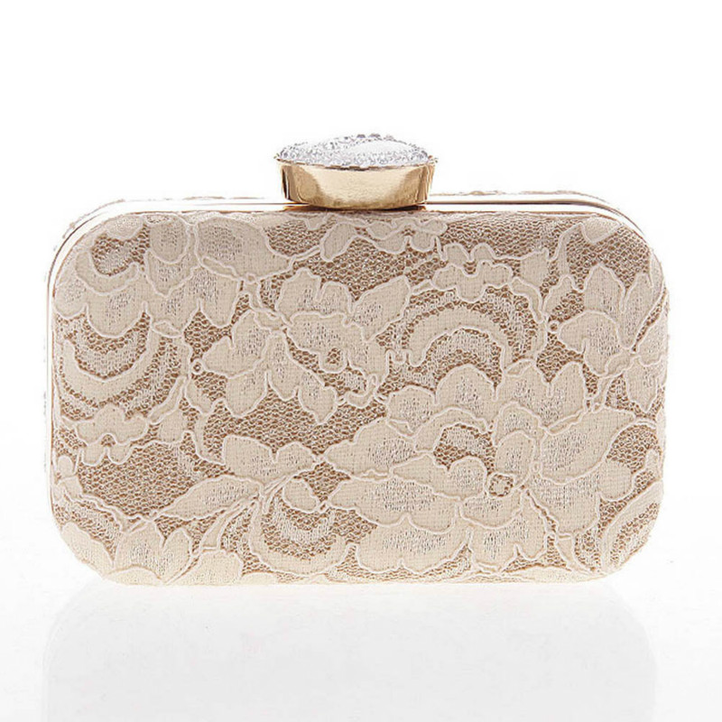 2018 New Women Elegant Fashion Bag Lace Dinner Wedding Bridal Party Hand Bag Fashion Clutch Evening Bag Purse for Women Balestra