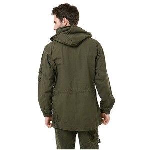 Image 2 - 군사 유니폼 남자 M65 트렌치 코트 남성 단색 위장 Wadded 101st 공수 포스 양털 재킷 코트 남자 의류 BF802