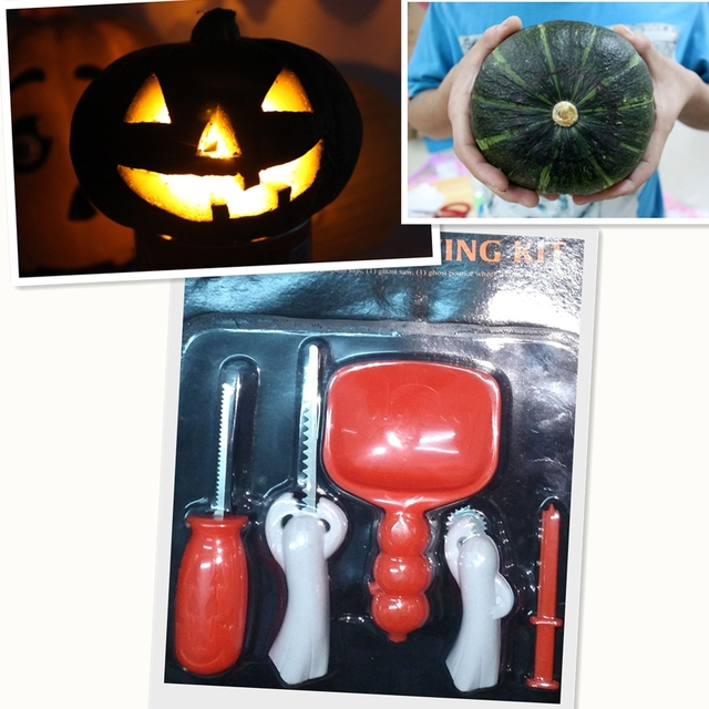New Halloween Supply Pumpkin Lantern Carving Knife Kit Pumpkin Carving Tool Set Real Pumpkin Lantern Carving Kit DIY Tool Set