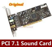 Бесплатная доставка оригинальный креативный LABS звуковая карта BLASTER SB0410 PCI 7,1 24Bit звуковая карта SB0410