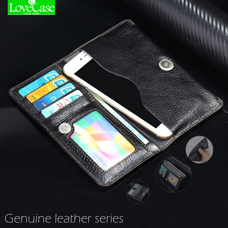 Genuine Leather Pouch Wallet Phone Bag Case For Iphone 7 7Plus 6S 6 Plus 5S huawei