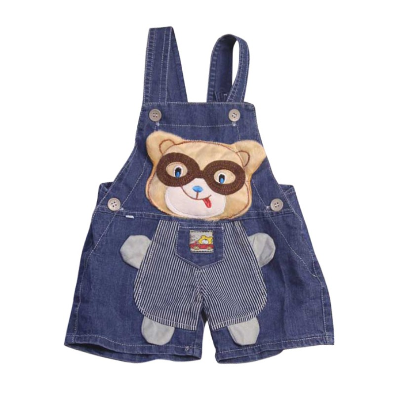 2018 Summer 1-3T Hot Sale Baby Boys And Girls Cartoon Embroidered Cowboy Suspenders Shorts Infant Kids Newly Fashion Overalls