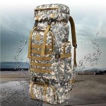 Высокая плотность водонепроницаемая ткань Оксфорд 60L Открытый военный тактический отдых Пеший Туризм походы рюкзак воздухопроницаемой сеткой Резервное 10