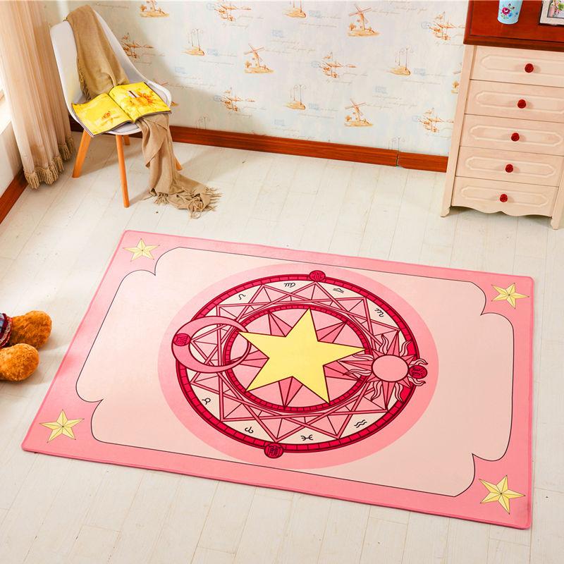 3 taille créative Anime figurine carte Captor Sakura tableau magique imprimé Polyester bébé enfants bambin ramper tapis de jeu tapis