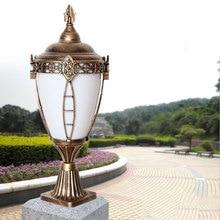 Купить с кэшбэком Europe waterproof outdoor pillar lamp fence courtyard community E27 column lights landscape lighting chapiter lamp WCS-OCL0045