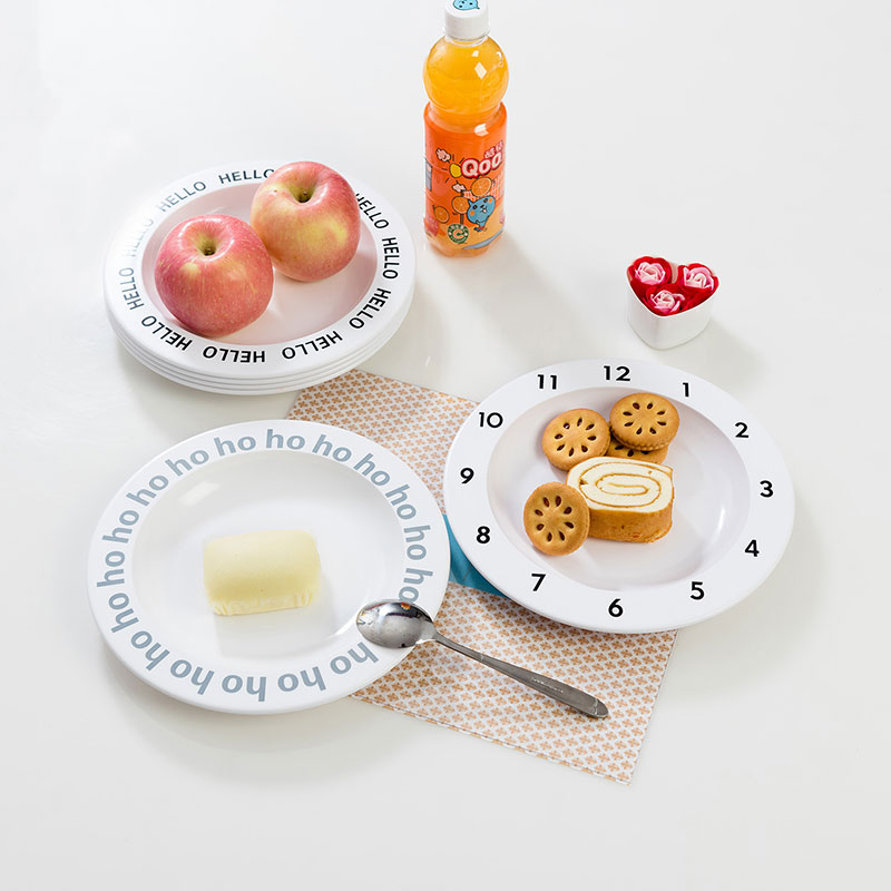 Baby Feeding Dishes Cloud Clock Fruit Creative Decorativ Plate Nordic Minimalist Style Tableware For Infant Toddler Take Props