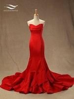 Новая коллекция элегантный Труба без бретелек рукавов пятно с Часовня суд вечернее платье Forma женские платья Vestidos Longo SL E24