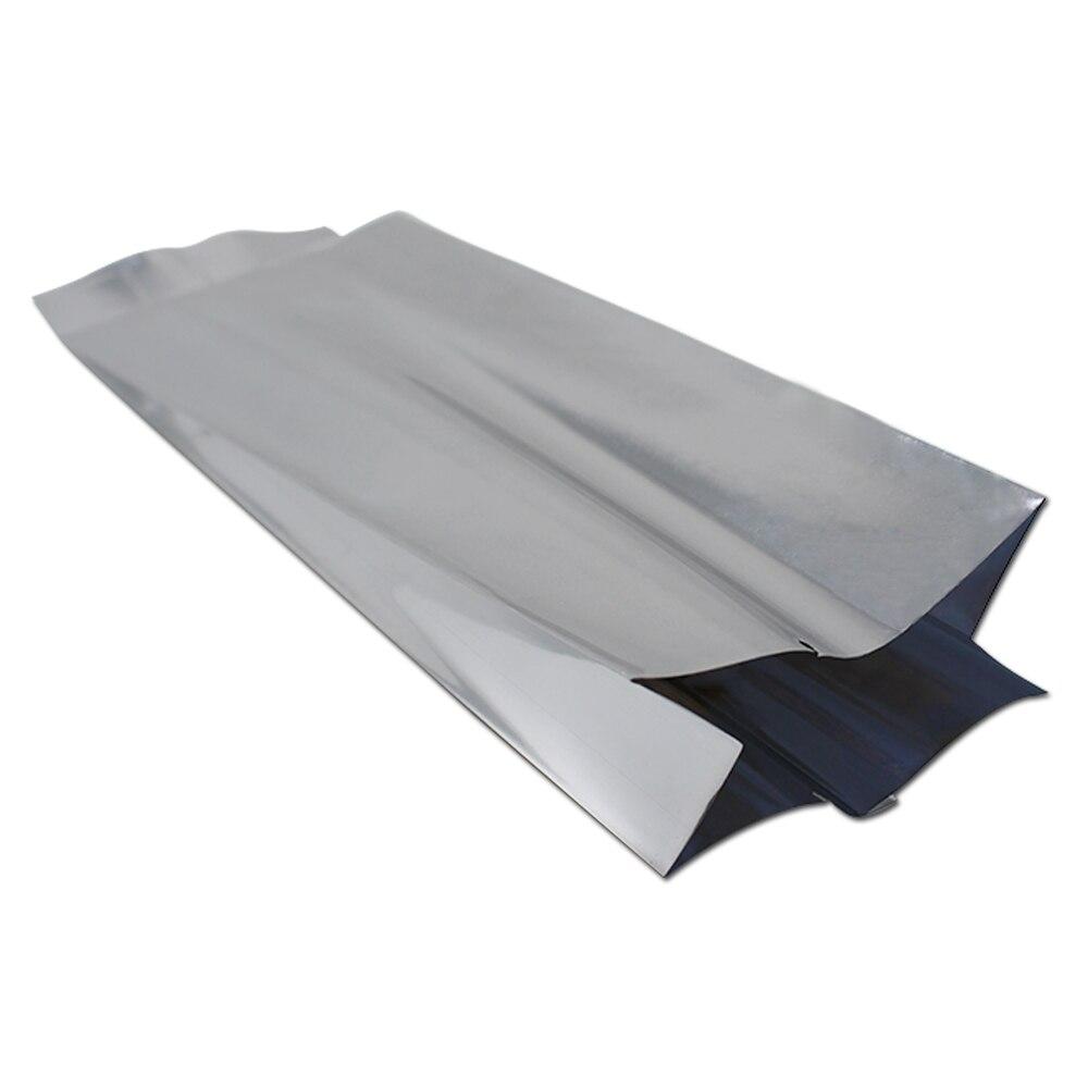 Fenêtre en Aluminium Argenté stand up Sachets Mylar qualité alimentaire à Fermeture Zip Joint Chaleur Sac