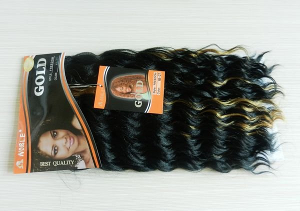 free shipping noble gold synthetic hair braiding