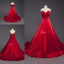 NOBLE BRIDE Women Red Evening Dress 2019 Long Prom Dress