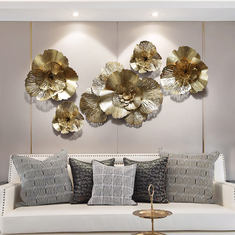 Flower Luxury Gold Wall Hanging Crafts