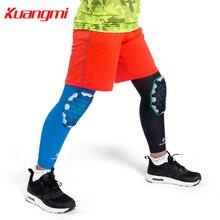 Kuangmi 1 PC Child Knee Brace Support Children Leg Calf Sleeve Compression Kids Sports Pads Basketball Rodilleras Protector