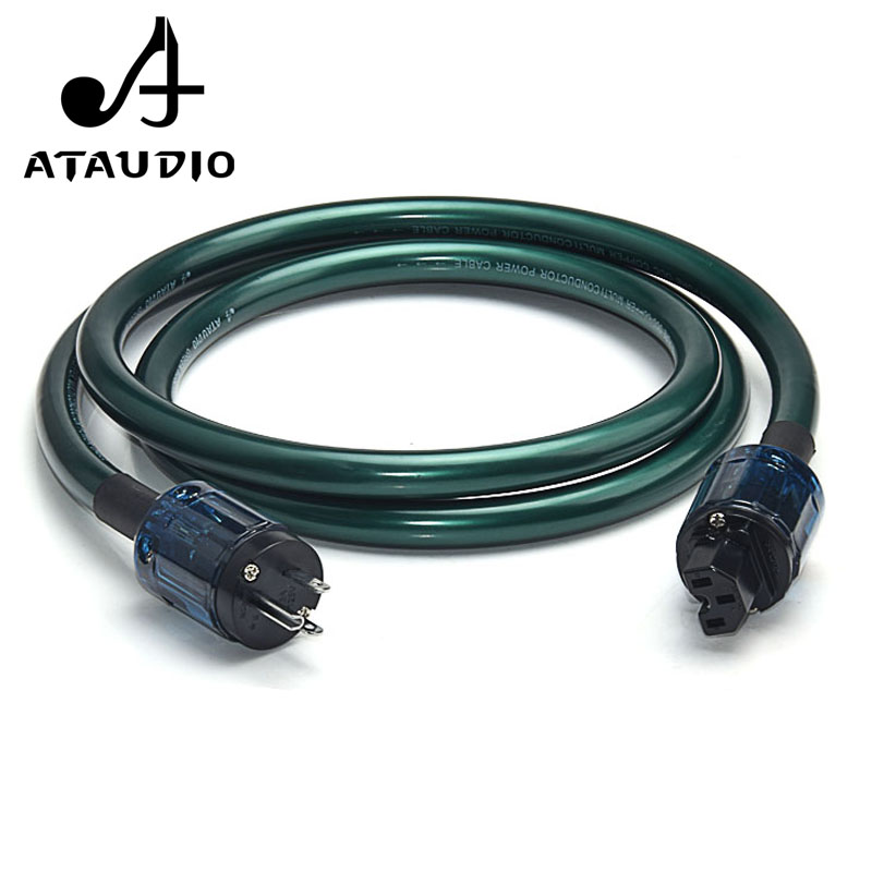 ATAUDIO Hifi OCC Power Cable With US Plug High Performance Power Cord to amplifier, CD player, DAC