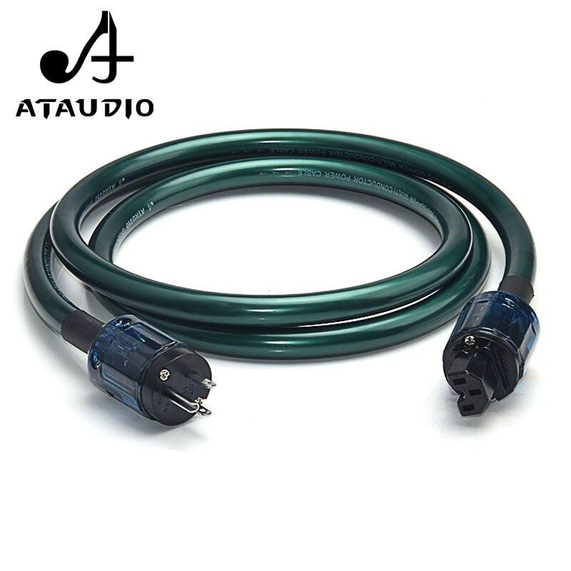Câble d'alimentation ATAUDIO Hifi OCC avec prise US cordon d'alimentation haute Performance à amplificateur, lecteur CD, DAC
