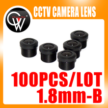 100pcs/lot 1.8mm Lens 170 degree CCTV Board Lens M12 For CCTV Security Camera Free Shipping