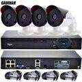 GADINAN 4CH 15 V POE Sistema NVR 720 P 960 P 1080 P Rede IP Segurança Câmera de Visão Noturna IP Kits de câmera de Segurança de Vigilância