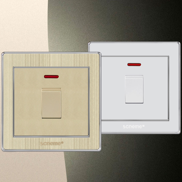 25A 1 gang UK Standard electric wall lamp switch and AC110V 250V ...