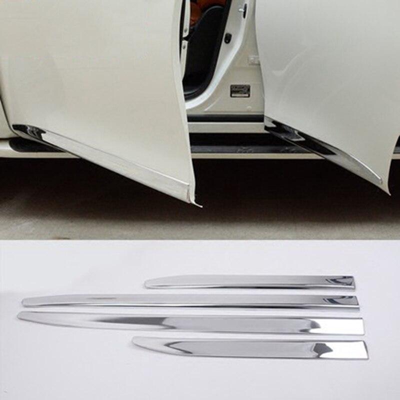 MONTFORD Chrome corps de porte latérale moulures Protection Liner garniture capots de bordure pour Nissan patrouille Y62 2010-2018 Infiniti QX56 QX80